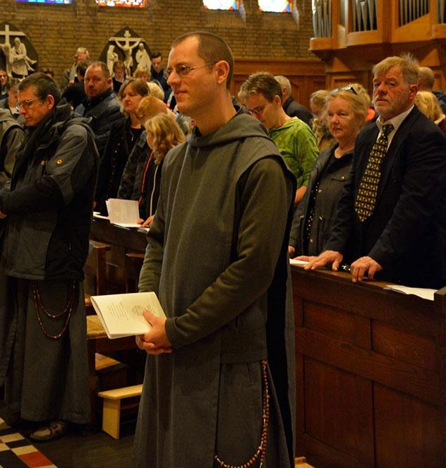 Oblature régulière de frère Robin-Marie à Utrecht chez les Frères de Saint-Jean